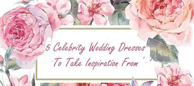 Celebrity Wedding Dress Header Image
