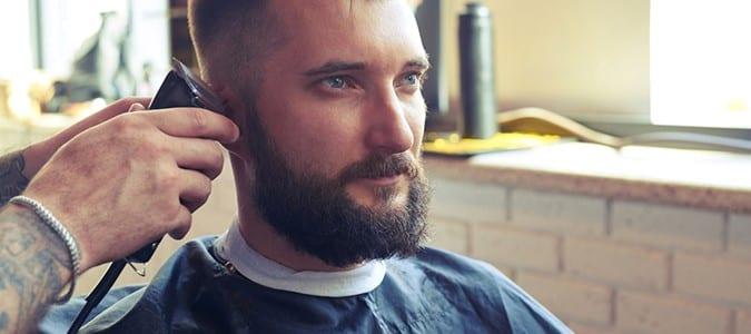 Groom Receiving a Haircut